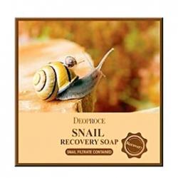Deoproce Snail Recovery Soap - Мыло для лица с 90% экстрактом секреции улитки, 100 г