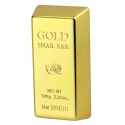 The Saem Gold Snail Bar - Мыло для лица с экстрактом слизи улитки и золота, 100 г