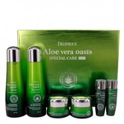 Deoproce Aloe Vera Oasis Special Care 4 Set - Набор для лица с экстрактом алоэ вера, 150мл*2 / *30мл*2/50гр*2