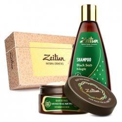 """Zeitun Black Seed Magic Hair Set - Подарочный набор """"Магия Черного тмина"""" для оздоровления волос(шамп+маска)"""