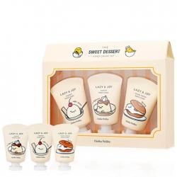 Holika Holika Gudetama LAZY & JOY The Sweet Dessert Hand Cream Set - Набор из 3 кремов для рук, 30мл+30мл+30мл