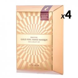 It's Skin Prestige Gold Foil Hand Masque D'escargot Set - Набор интенсивно питательных масок для рук с фильтратом муцина улитки, 6 мл * 2 шт * 5шт