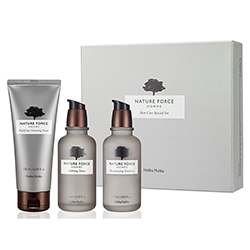 Holika Holika Nature Force Homme Skin Care Set - Набор очищающих средств для мужчин,  120мл+120мл+120мл