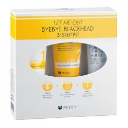 Mizon Let Me Out ByeBye Blackhead 3-Step Kit - Набор от черных точек, 35 мл+35 мл+30 мл