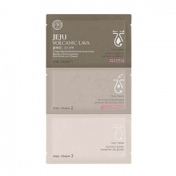 The Face Shop Jeju Volcanic Lava 3-Step Blackhead Remover Nose Strips - Набор от черных точек