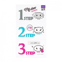 Holika Holika Pig-Clear Black Head 3-step Kit - No Water - Набор от чёрных точек, 20 г*SALE