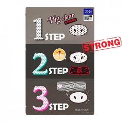 Holika Holika Pig-Clear Black Head 3-step Kit - Strong - Набор от чёрных точек, 15 г*SALE