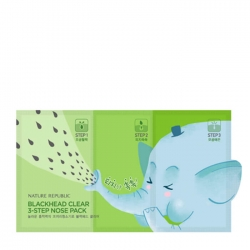Nature Republic Blackhead Clear 3-Step Nose Pack - Набор от чёрных точек