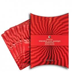 It's Skin Prestige Wrinkle Line Masque Ginseng D'escargot Set - Набор патчей для век и носогубных складок с экстрактом красного женьшения, 3г+3.5г*5шт