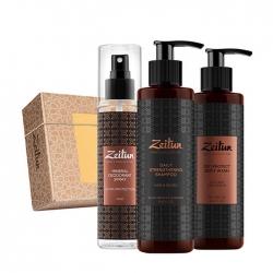 Zeitun - Набор подарочный Актив 24 для активных мужчин (гель д/душа, дезодорант, шампунь)