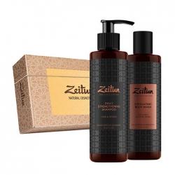 Zeitun - Набор подарочный Экспресс уход для мужчин (гель-скраб д/душа, гель д/умывания)