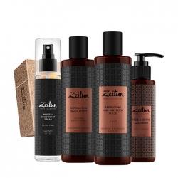 Zeitun - Набор подарочный Свежесть 24 для мужчин (гель-скраб д/душа, дезодорант, гель д/умывания)