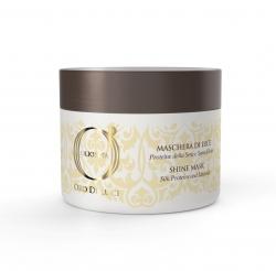 Barex Olioseta Oro Di Luce Shine Mask - Маска-блеск с протеинами шелка и семенем льна, 200 мл