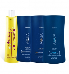 BB ONE Aqua Couture Full - Набор (шаг 1 BTX Special Hair +шаг 2 SILVER HYDRATION ВТХ+ шаг 2 MACADAMIA HYDRATION ВТХ  + шаг 2 SPIDER DEEP HYDRATION) 4*1000мл