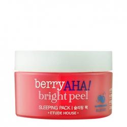 Etude House Berry AHA Bright Peel Sleeping Pack - Ночная отшелушивающая маска для лица с AHA кислотами, 100мл