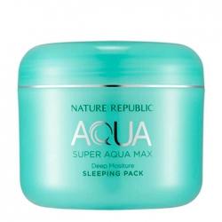 Nature Republic Super Aqua Max Combination Watery Sleeping Pack - Ночная маска на основе воды полинезийской лагуны, 100мл