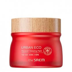 The Saem Urban Eco Waratah Sleeping Pack - Ночная укрепляющая маска для лица с 71% экстрактом телопеи, 80 мл