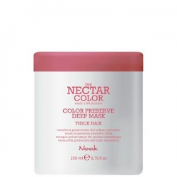 Nook Nectar Color Preserve Deep Mask - Thick Hair to preserve cosmetic color - Маска для ухода за жесткими окрашенными волосами, 250 мл