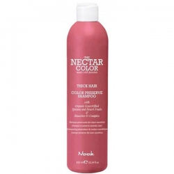 Nook Nectar Color Preserve Shampoo - Thick Hair to preserve cosmetic color - Шампунь для ухода за жесткими окрашенными волосами, 300 мл