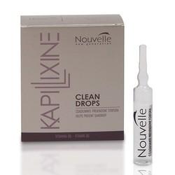 Nouvelle Clean Drops - Средство против перхоти с маслом эвкалипта в ампулах, 10х10 мл