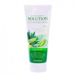 Deoproce Natural Perfect Solution Cleansing Foam Aloe - Пенка для умывания лица с экстрактом алоэ, 170мл