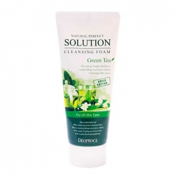 Deoproce Natural Perfect Solution Cleansing Foam Green Tea - Пенка для умывания лица с экстрактом зелёного чая, 170мл