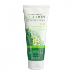 Deoproce Natural Perfect Solution Cleansing Foam Mild - Мягкая пенка с экстрактами кактуса, ромашки и алоэ вера, 170 мл