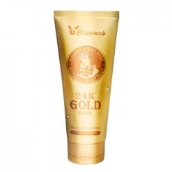 Elizavecca 24K Gold Snail Cleansing Foam - Очищающая пенка с муцином улитки и 24К золотом, 180 мл