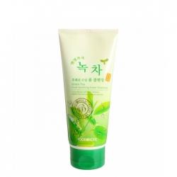 FoodaHolic Green Tea Fresh Soothing Foam Cleansing - Пенка для умывания лица с экстрактом зелёного чая, 180 мл