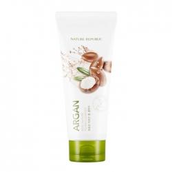 Nature Republic Real Nature Argan Foam Cleanser - Пенка для умывания с экстрактом масла арганы, 150мл