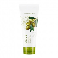 Nature Republic Real Nature Olive Foam Cleanser - Пенка для умывания с экстрактом оливы, 150мл