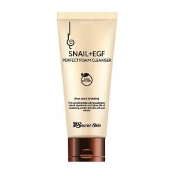 Secret Skin Snail+EGF Perfect Foam Cleanser - Пенка для умывания с экстрактом улитки и фактором роста EGF, 100мл