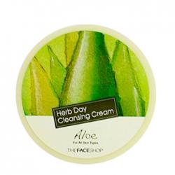 The Face Shop Herb Day Cleansing Cream Aloe - Мягкий очищающий крем с алоэ, 150 мл