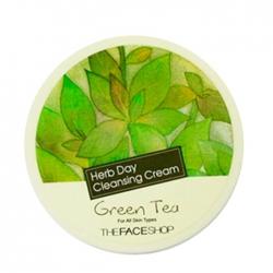 The Face Shop Herb Day Cleansing Cream Green Tea - Очищающий крем для лица с зеленым чаем, 150 мл