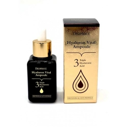 Deoproce Hyaluron Vital Ampoule - Сыворотка гиалуроновая ампульная, 50 мл