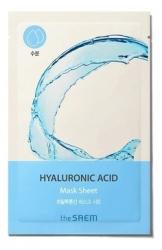 The Saem BIO SOLUTION Hydrating Hyaluronic Acid Mask Sheet - Маска на тканевой основе для лица увлажняющая, 20 гр