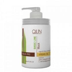Ollin Professional Basic Line Argan Oil Shine&Brilliance - Маска для сияния и блеска с аргановым маслом, 650 мл
