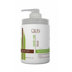 Ollin Professional Basic Line Reconstructing Mask With Burd - Восстанавливающая маска с экстрактом репейника, 650 мл