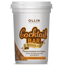 Ollin Professional Cocktail Bar - Крем-кондиционер для волос, Шоколадный коктейль, 500 мл
