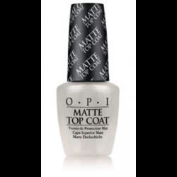 OPI Matte Top Coat - Верхнее покрытие для создание матового эффекта, 15 мл