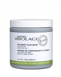 Matrix Biolage R.A.W Re-Bodify Clay Mask - Детокс-маска для объема с имбирем и каолиновой глиной 400 мл