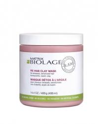 Matrix Biolage R.A.W Re-Hab Clay Mask - Детокс-маска восстанавливающая с каолиновой глиной и медовыми сотами 400 мл