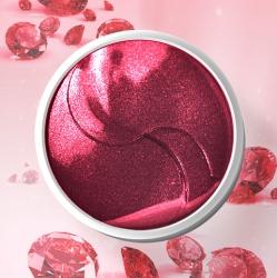 Bioaqua&Minabao Ruby Powder Firming Eye Mask - Гидрогелевые патчи для глаз с рубиновой пудрой, 60шт