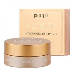 Petitfee Gold Hydrogel Eye Patch - Гидрогелевые патчи для век с содержанием частиц 24-каратного золота, 60 шт