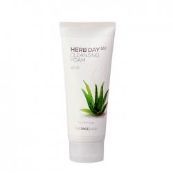 The Face Shop Herb Day 365 Aloe Cleansing Foam - Очищающая пенка с экстрактом алоэ вера и аллантоином, 170 мл