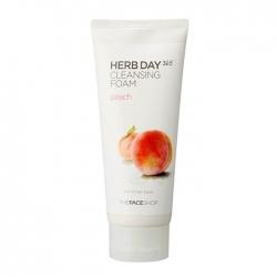 The Face Shop Herb Day 365 Peach Cleansing Foam - Очищающая пенка с экстрактом персика, 170 мл