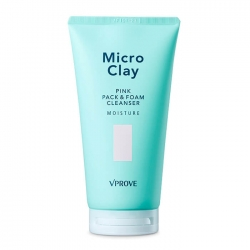 Vprove Micro Clay Pink Pack & Foam Cleanser Moisture - Пенка для умывания Увлажняющая для очищения кожи лица с розовой глиной, 150 мл