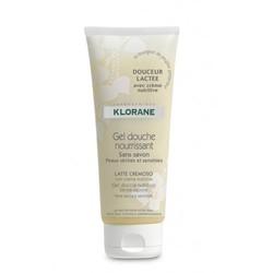 Klorane - Гель для душа увлажняющий молочная нежность 200 мл