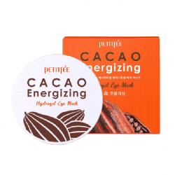 Petitfee Cacao Energizing Hydrogel Eye Mask - Гидрогелевые патчи для глаз с экстрактом какао, 60 шт.