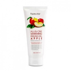 FarmStay All In One Whitening Peeling Gel Cream Apple - Пилинг-скатка для лица с экстрактом улитки и яблока, 180мл